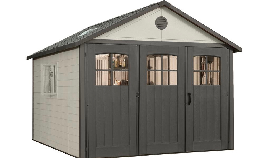 Lifetime 11 Foot Shed with 9-Foot Tri-Fold Doors