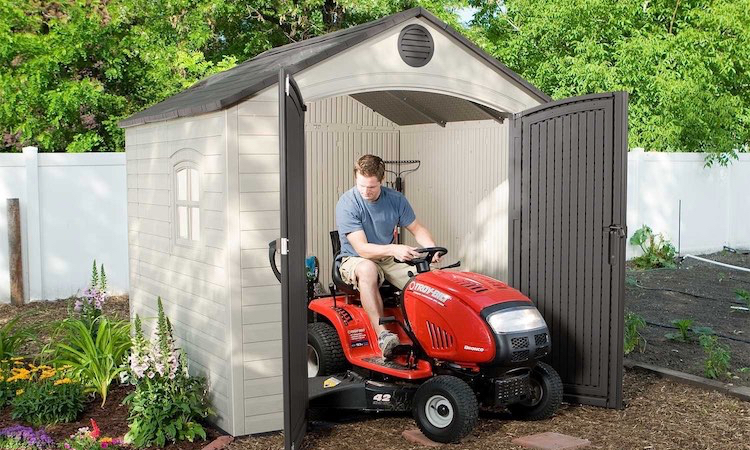Lifetime 6411 8' x 7.5' Outdoor Storage Shed