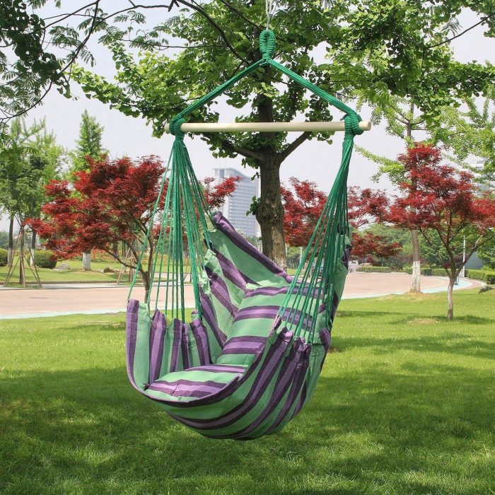 SUNMERIT Hanging Rope Hammock Chair Swing Seat for Indoor