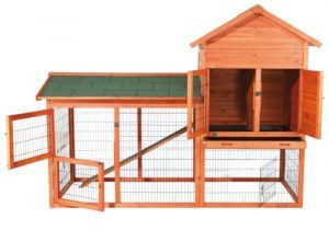 TRIXIE Pet Products Rabbit Hutch with Outdoor Run, 78.25 x 36.5 x 57.25 inches
